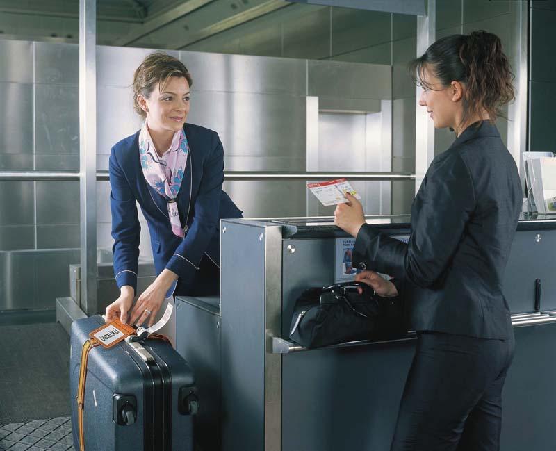 Регистрации в аэропорту разговоре на